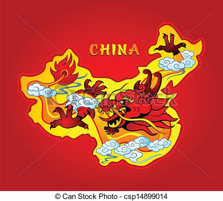 Map of china clipart.