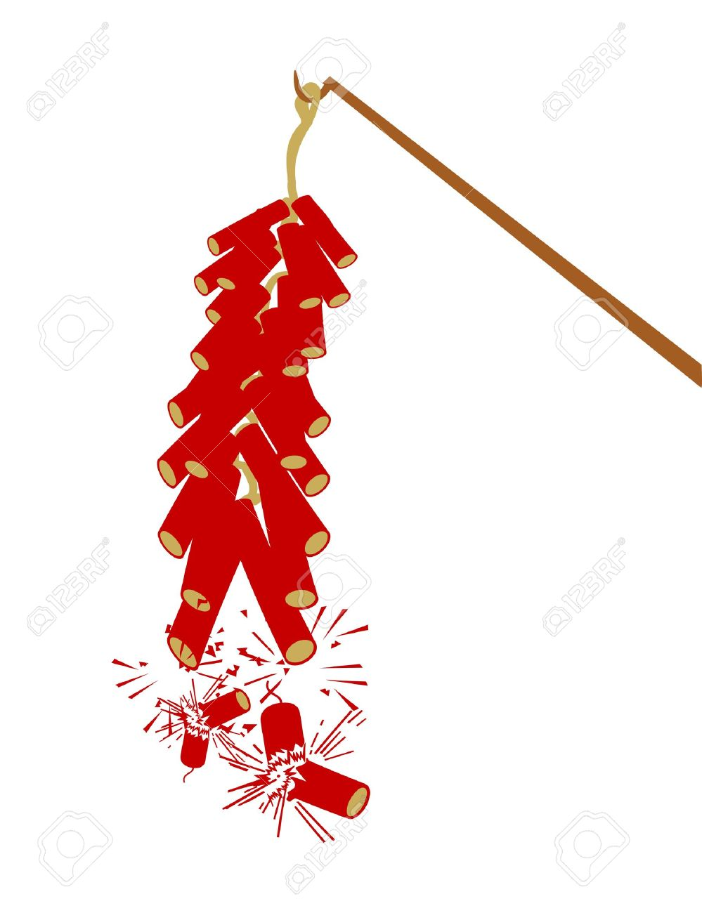 Vector Fire Cracker For Chinese New Year Royalty Free Cliparts.