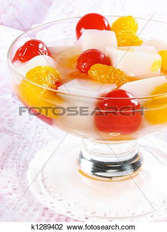 Stock Photo of Chinese Almond Gelatin Dessert k1289402.