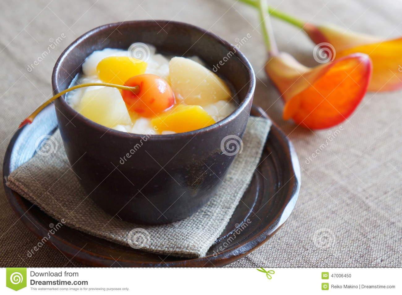 Chinese Almond Gelatin Dessert Royalty Free Stock Photos.