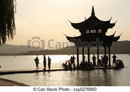 Stock Photography of West Lake.