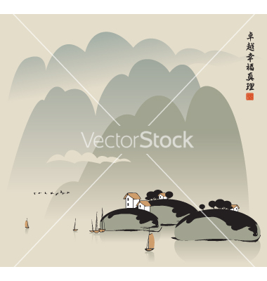 China lake vector by paseven.