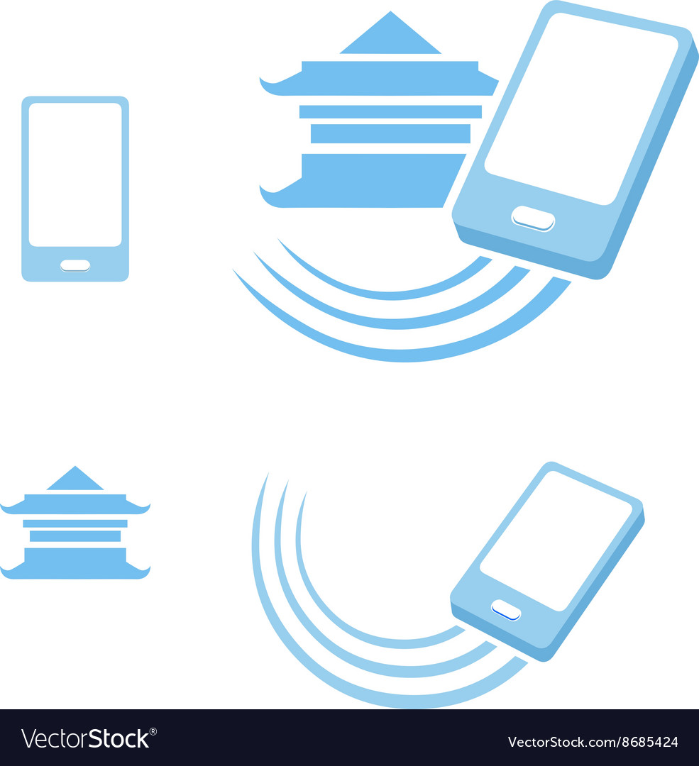Smartphone from china Logo template.