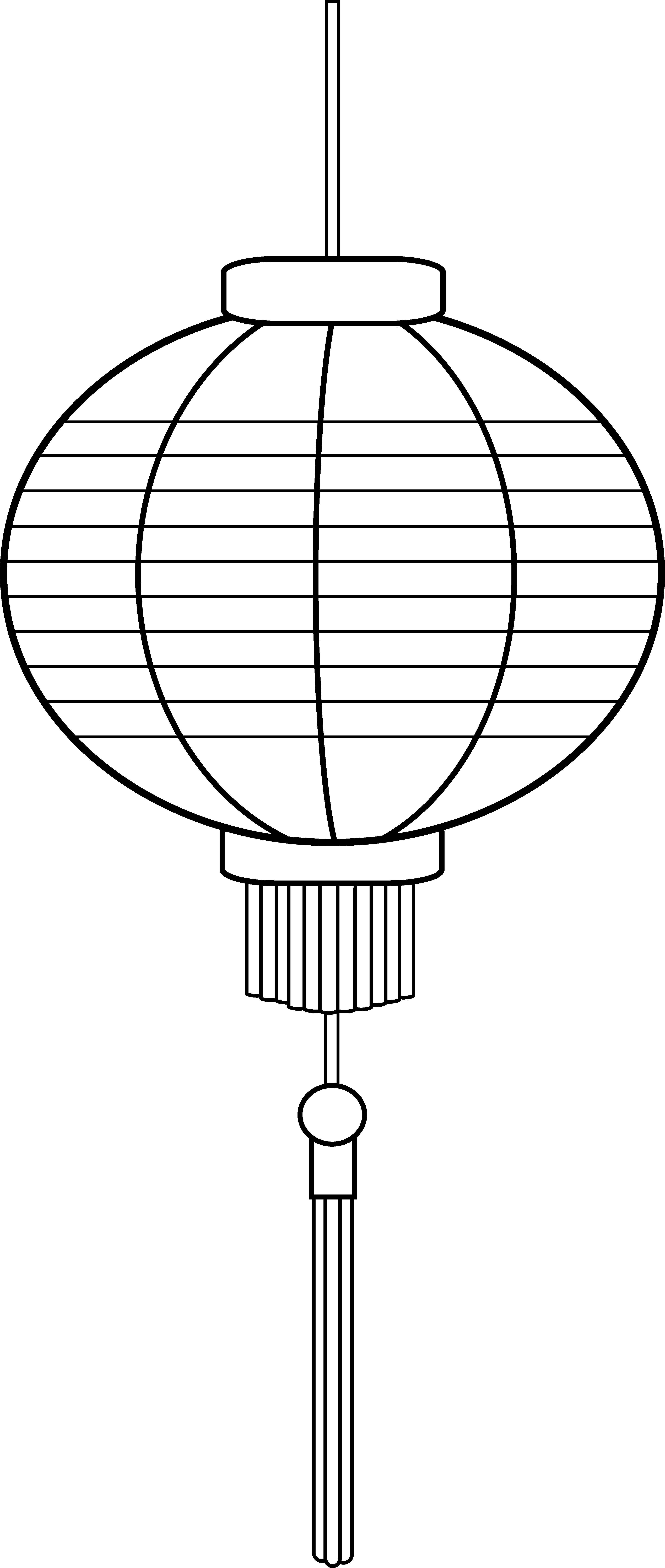 chinese lantern coloring page