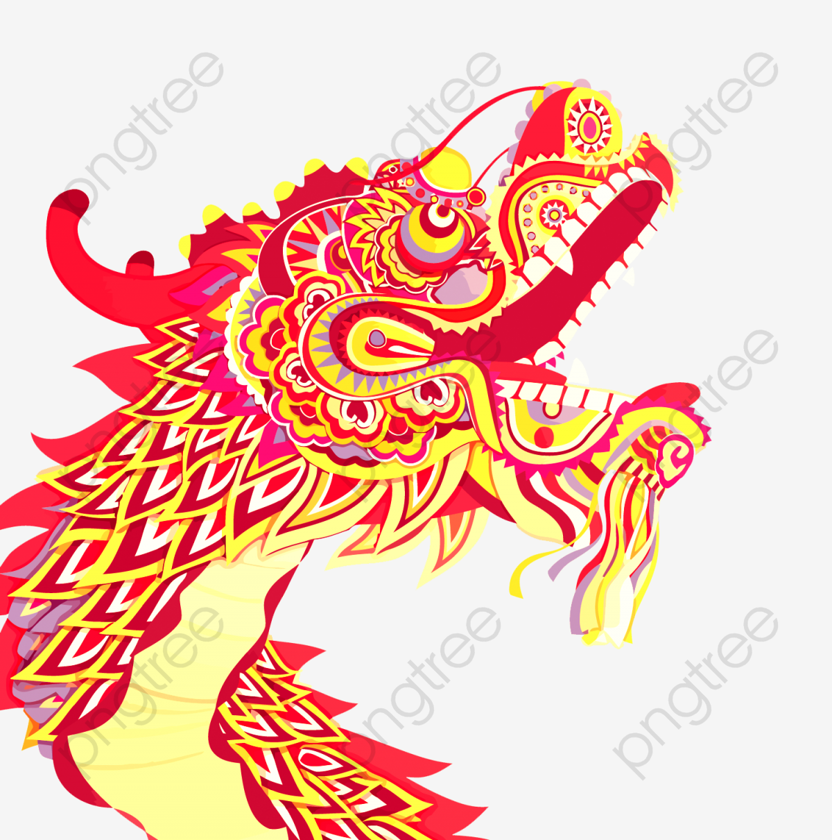 Vector Chinese Dragon, Dragon, Cartoon, China PNG and Vector with.