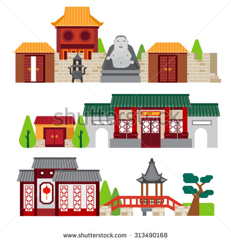 China Town Stock Vector 317869616.