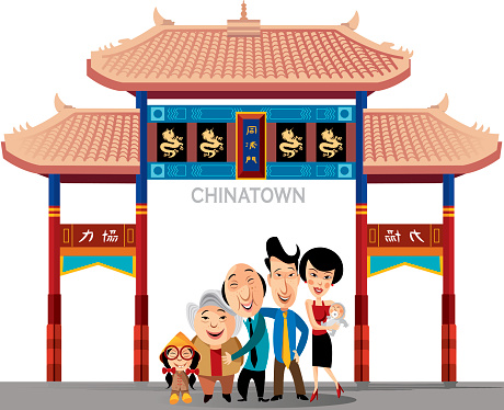 Chinatown New York Clip Art, Vector Images & Illustrations.