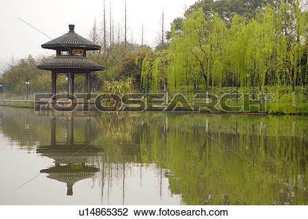 Stock Photo of China, Zhejiang Province, Hangzhou, West Lake.