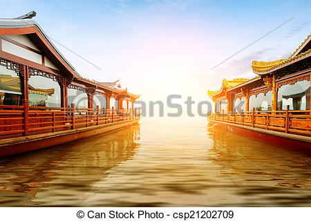 Stock Photography of China Hangzhou West Lake.