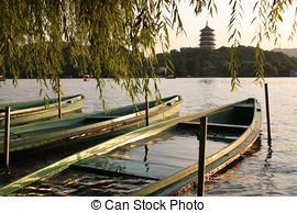 Pictures of China Hangzhou West Lake Landscape.