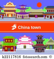 China town Clip Art and Illustration. 405 china town clipart.