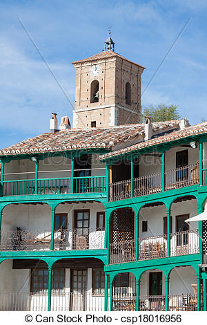 Stock Images of Main square, Touristic village in Madrid province.