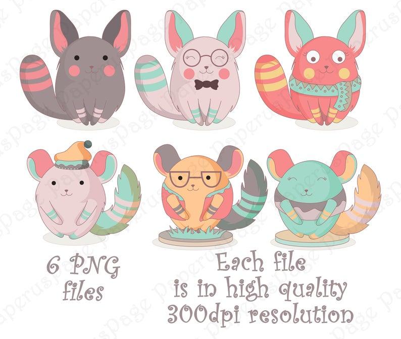 Chinchilla, Chinchilla clipart, stickers Chinchilla, Chomiak, house mouse,  mouse, cute chinchilla, pink chinchilla, Clipart, vector, sticker.