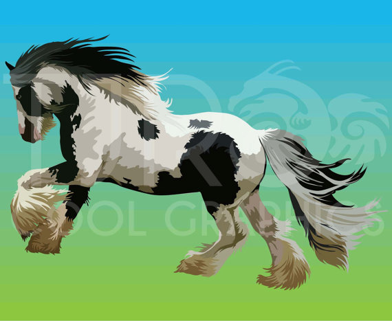 Horses Collection 3 Digital Realistic Clip Art PNG by JoyCreating.