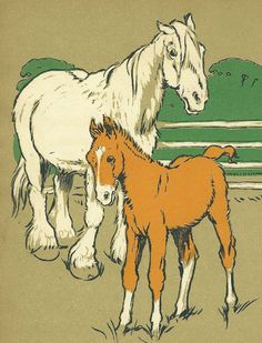 Full Book Page Misty of Chincoteague illustration from children's.
