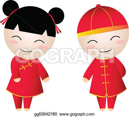Chinese Boys Clip Art.