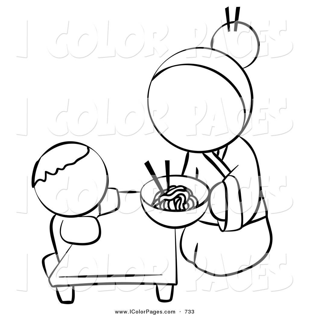 Royalty Free Stock Coloring Page Designs of Babies.