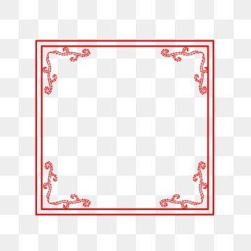 2019 的 Chinese Style Border Title Box Red Border Design.