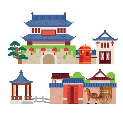 China Building premium clipart.