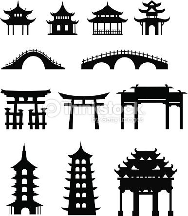 Chinese traditional buildings.