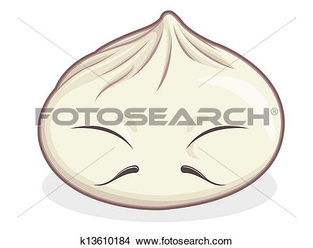 Clipart of Chinese Bun k13610184.
