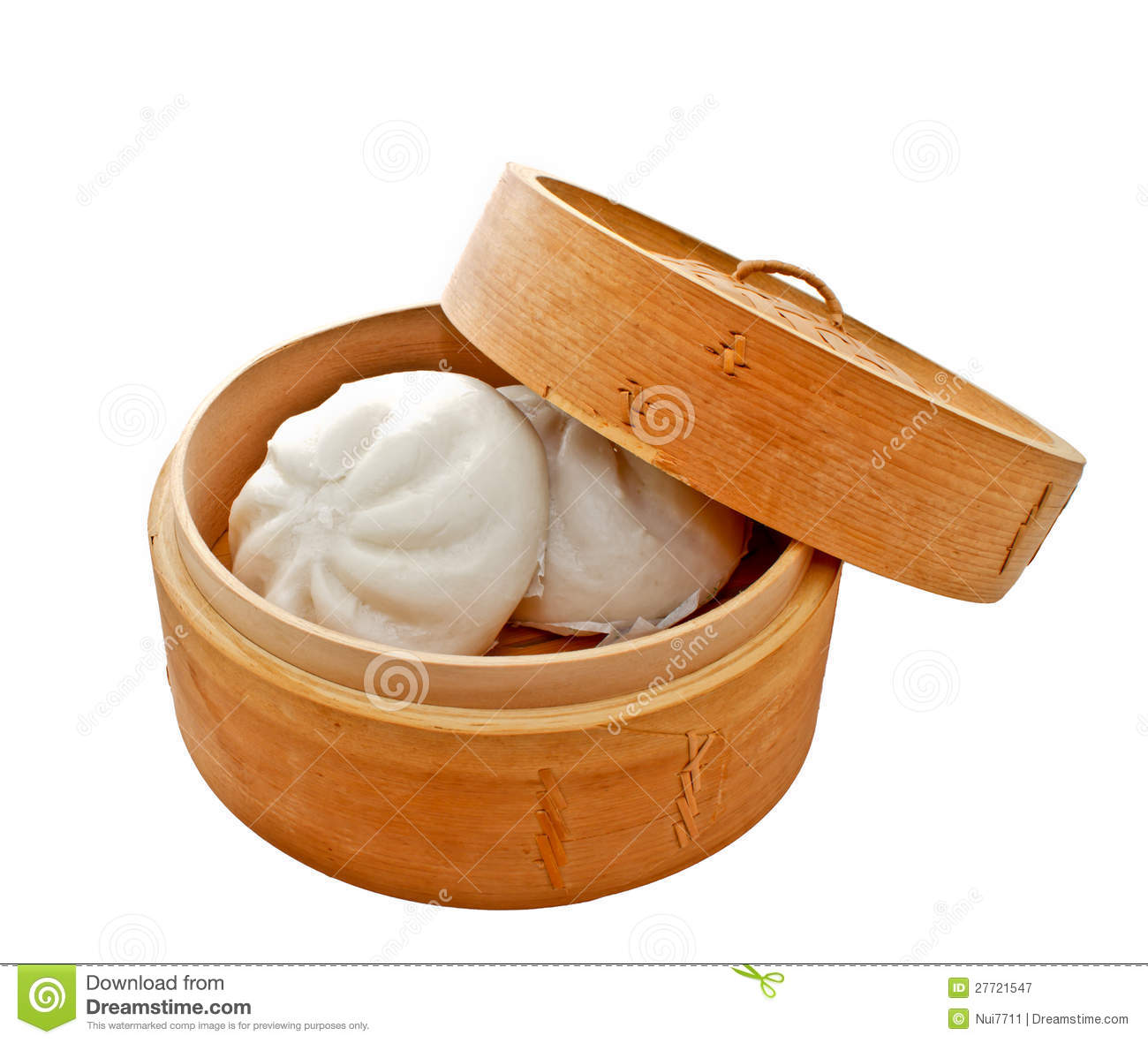 Chinese Buns In Basket Royalty Free Stock Photography.