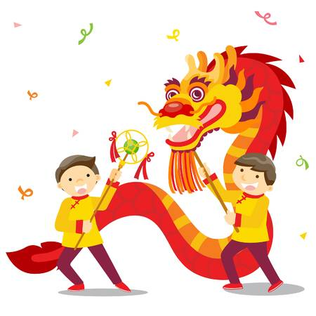 6,508 Chinese New Year Dragon Cliparts, Stock Vector And Royalty.