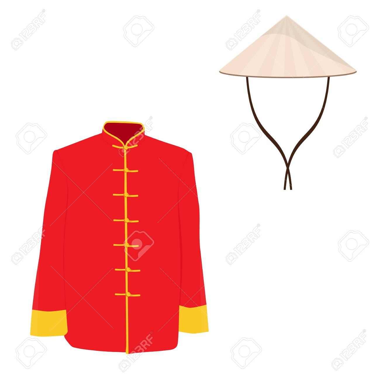 Chinese man traditional costume.