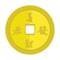 Coins Coin Golden Golden Coins Chinese Coins Wealth Prosperity.