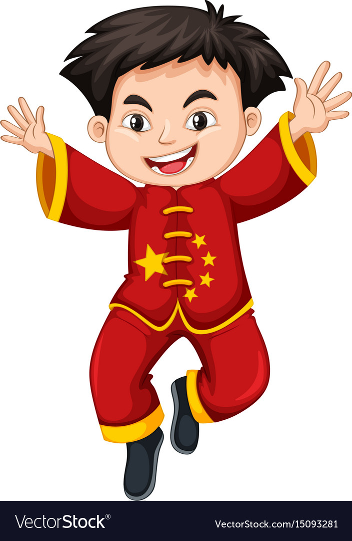 Chinese boy in traditional costume.