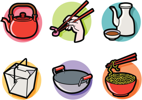 Chinese cuisine clipart.