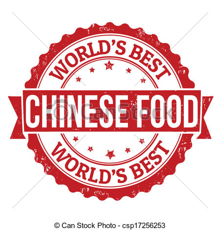Clipart Vector of Chinese food stamp.