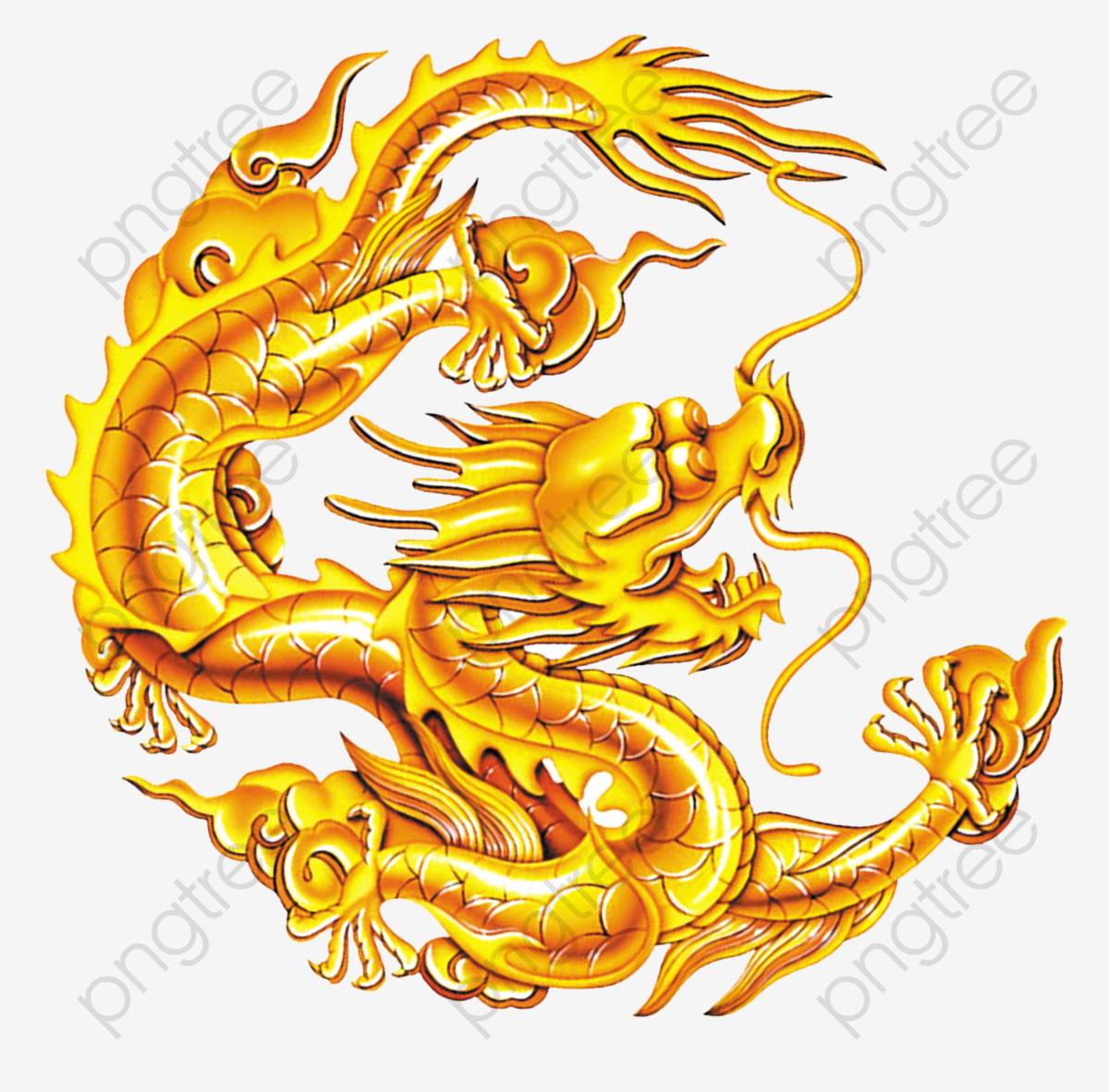 Chinese Dragon Golden Dragon, Chinese Clipart, Dragon Clipart.