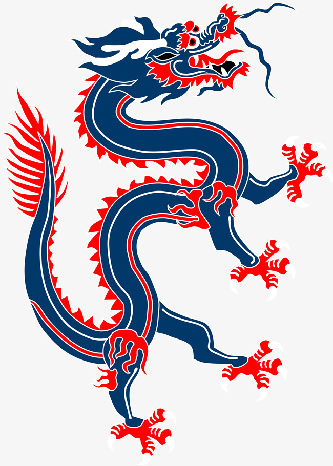 Red And Blue Chinese Dragon Clipart Attractive Clip Art Realistic 10.