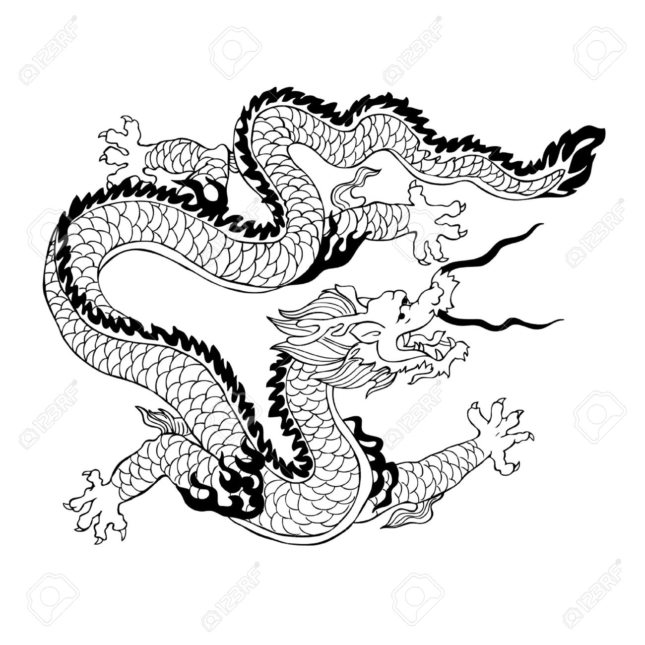 Chinese dragon clipart black and white 2 » Clipart Station.