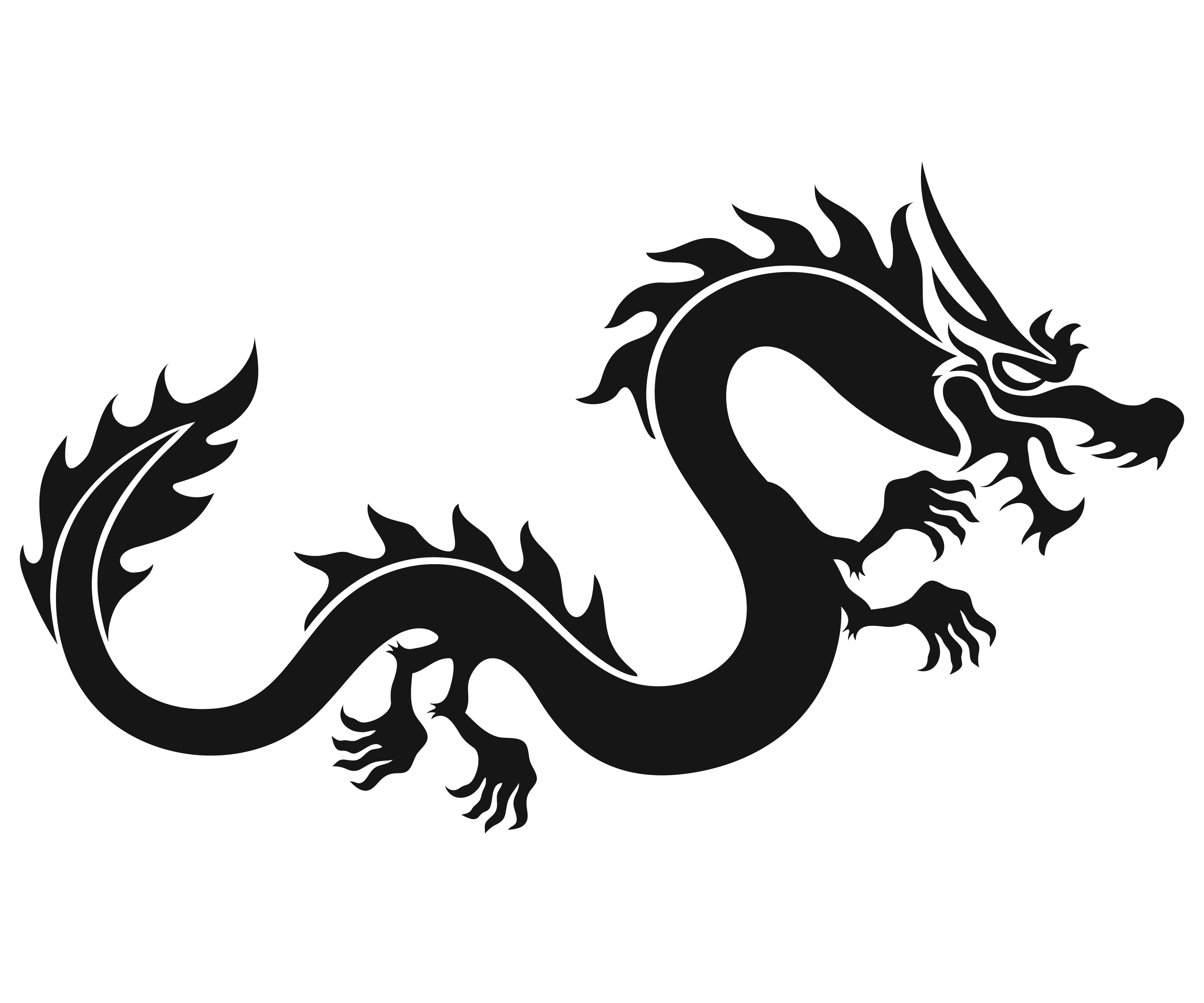 Free Chinese Dragon Clipart Black And White, Download Free.
