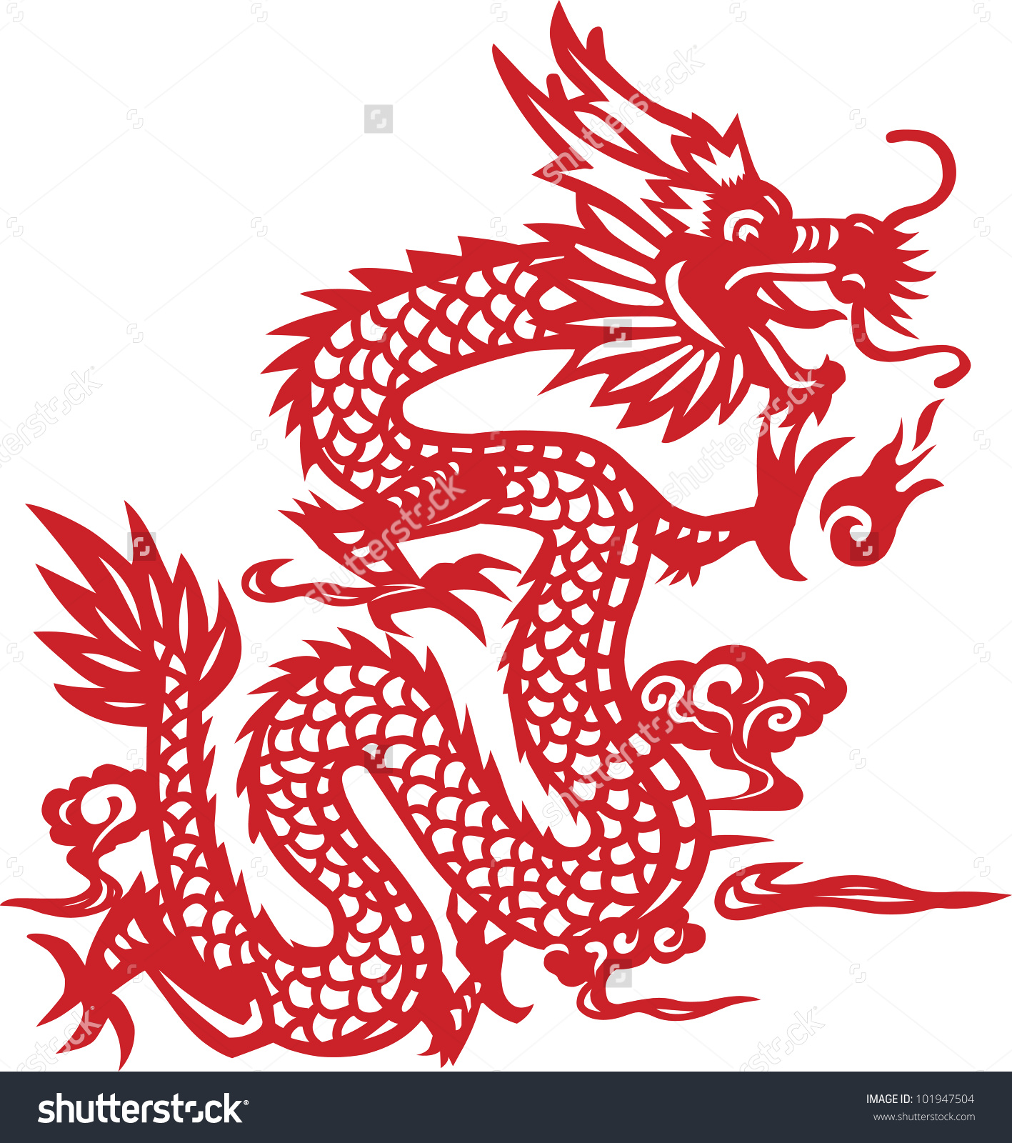 Clipart images of chinese dragons.