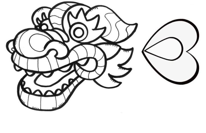 Free Chinese Dragon Outline, Download Free Clip Art, Free Clip Art.