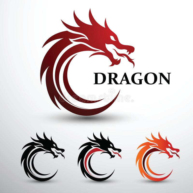 Dragon Head Stock Illustrations.