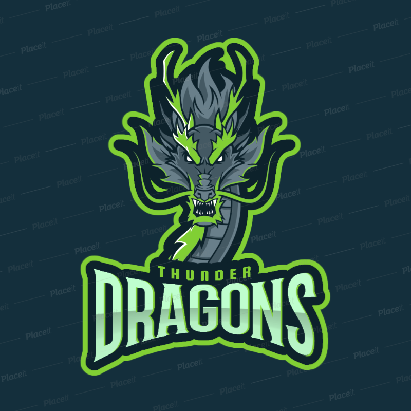 Gaming Logo Maker with a Chinese Dragon Graphic 2689a.
