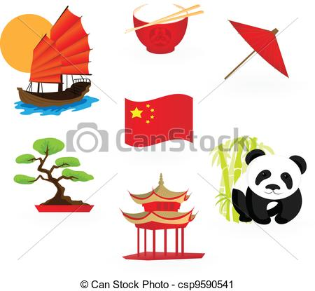 Vector Clip Art of Chinese icons csp9590541.