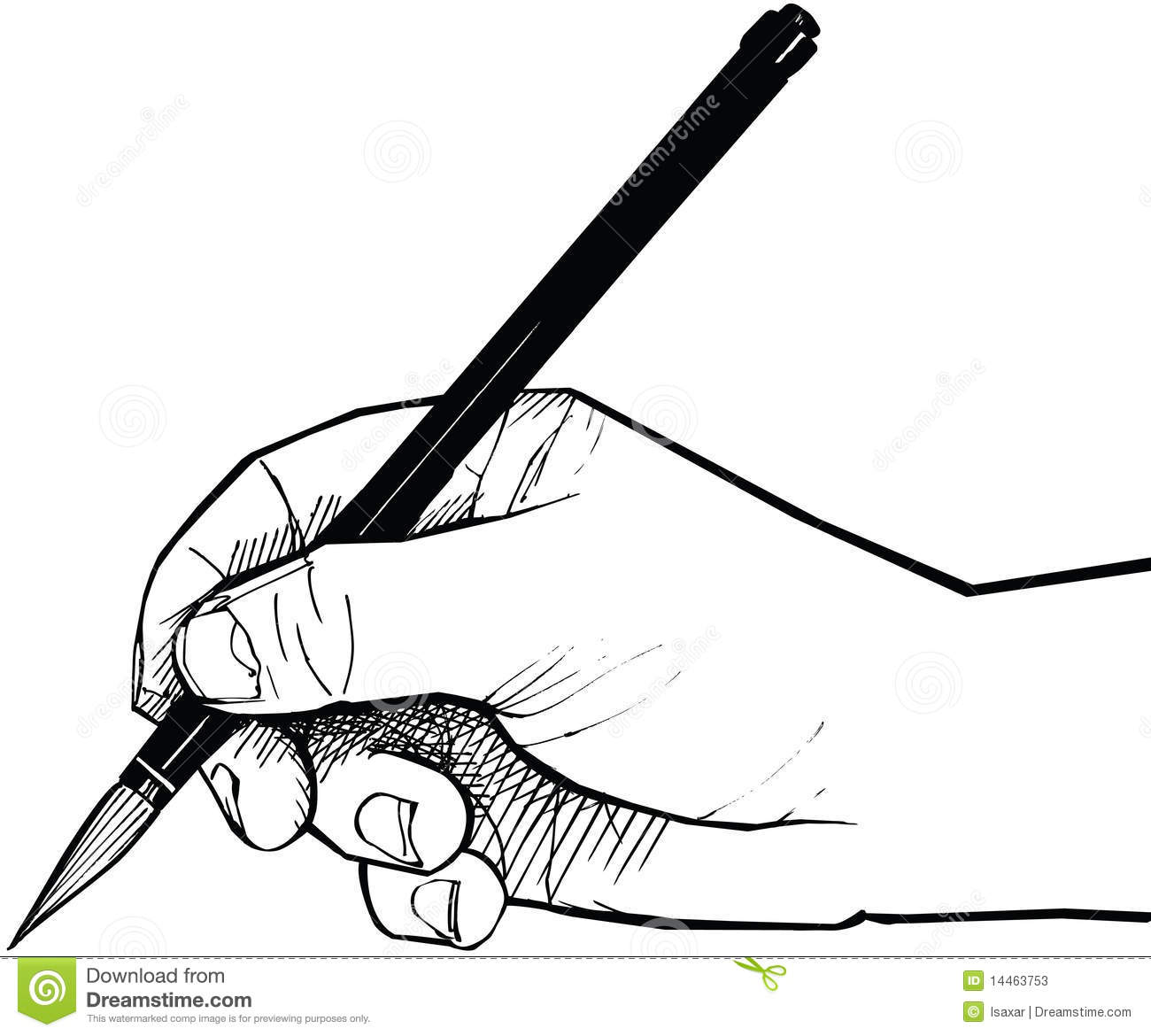 Hand Drawing With A Chinese Brush Stock Photos.