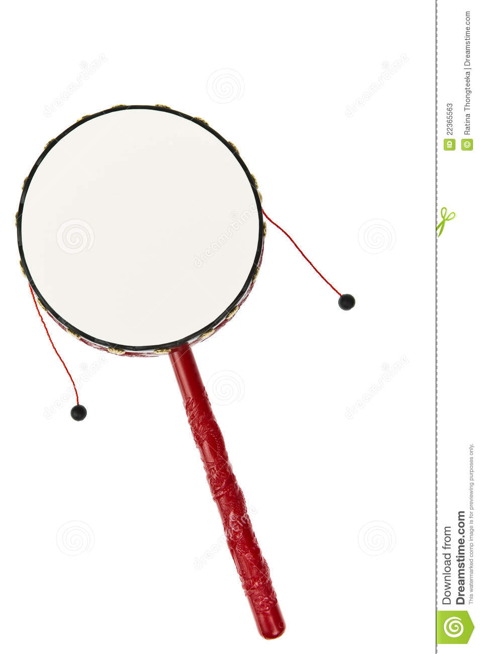 Traditional Chinese Hand Drum Stock Photos.