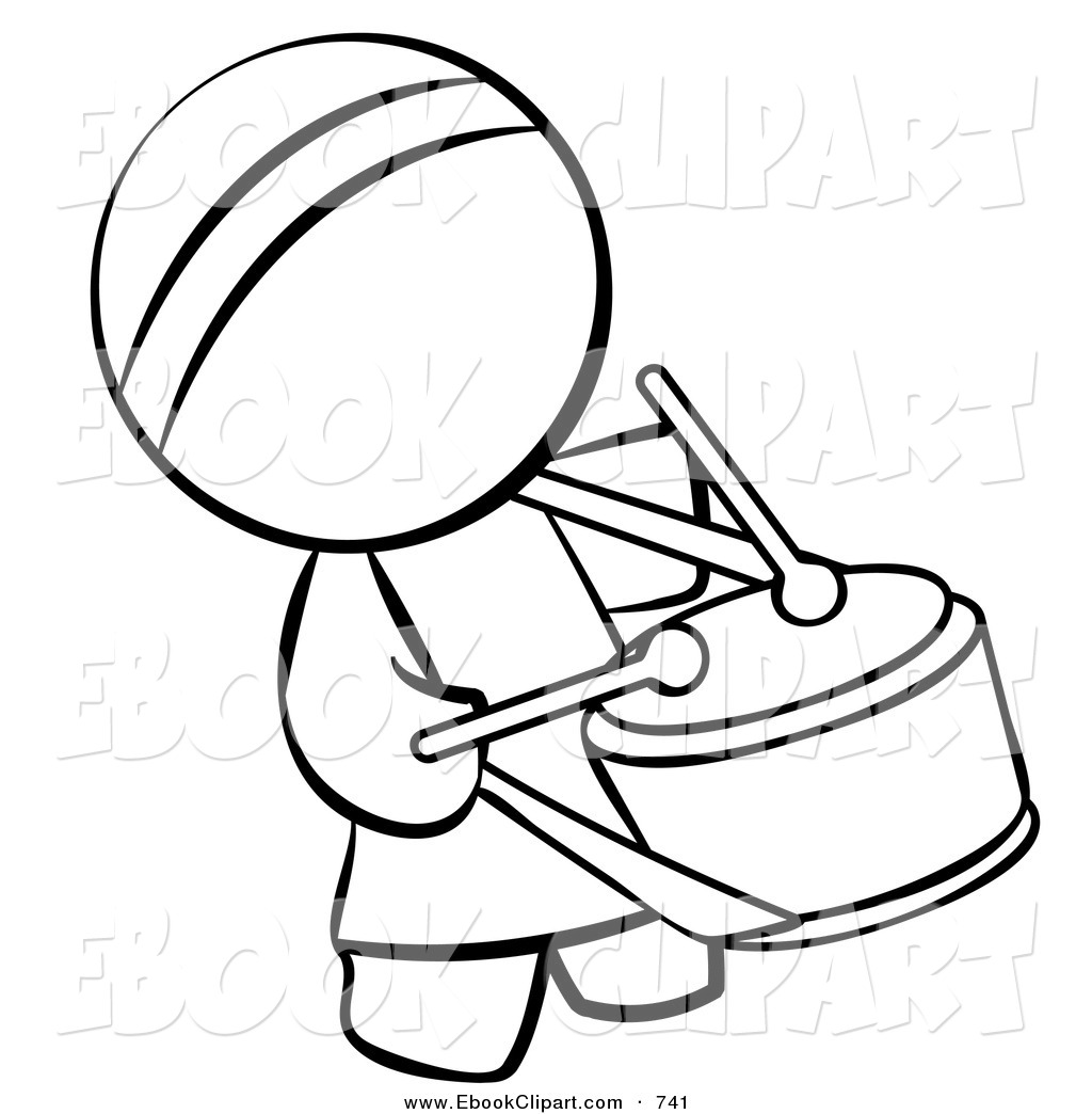 Vector Clip Art of a Black and White Outline of a Human Factor.