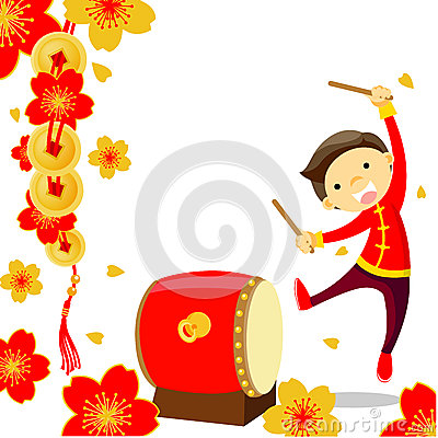 Chinese New Year Greeting Card Stock Photography.