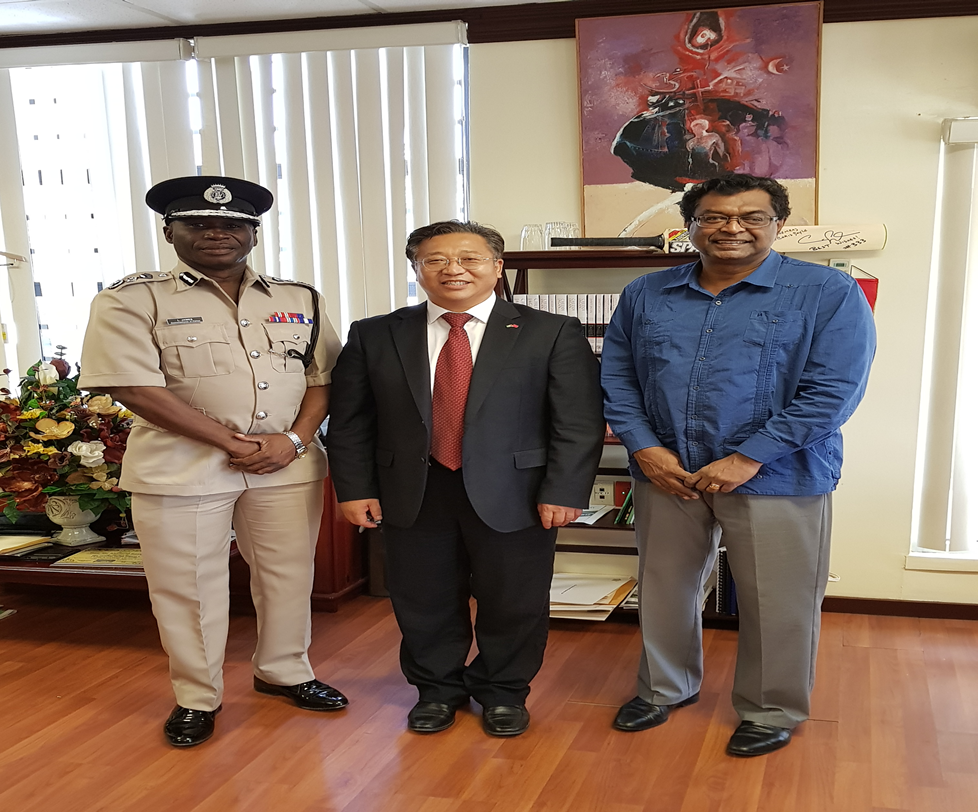 China envoy in meeting with Ramjattan on security of Chinese.