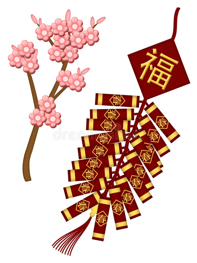 Chinese Firecrackers Stock Illustrations.