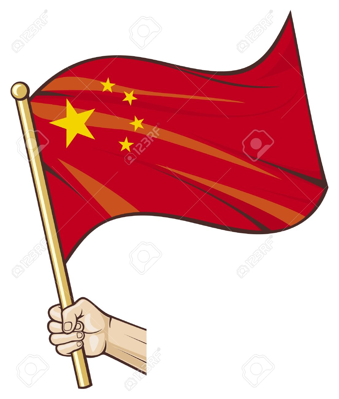 12,413 China Flag Stock Vector Illustration And Royalty Free China.