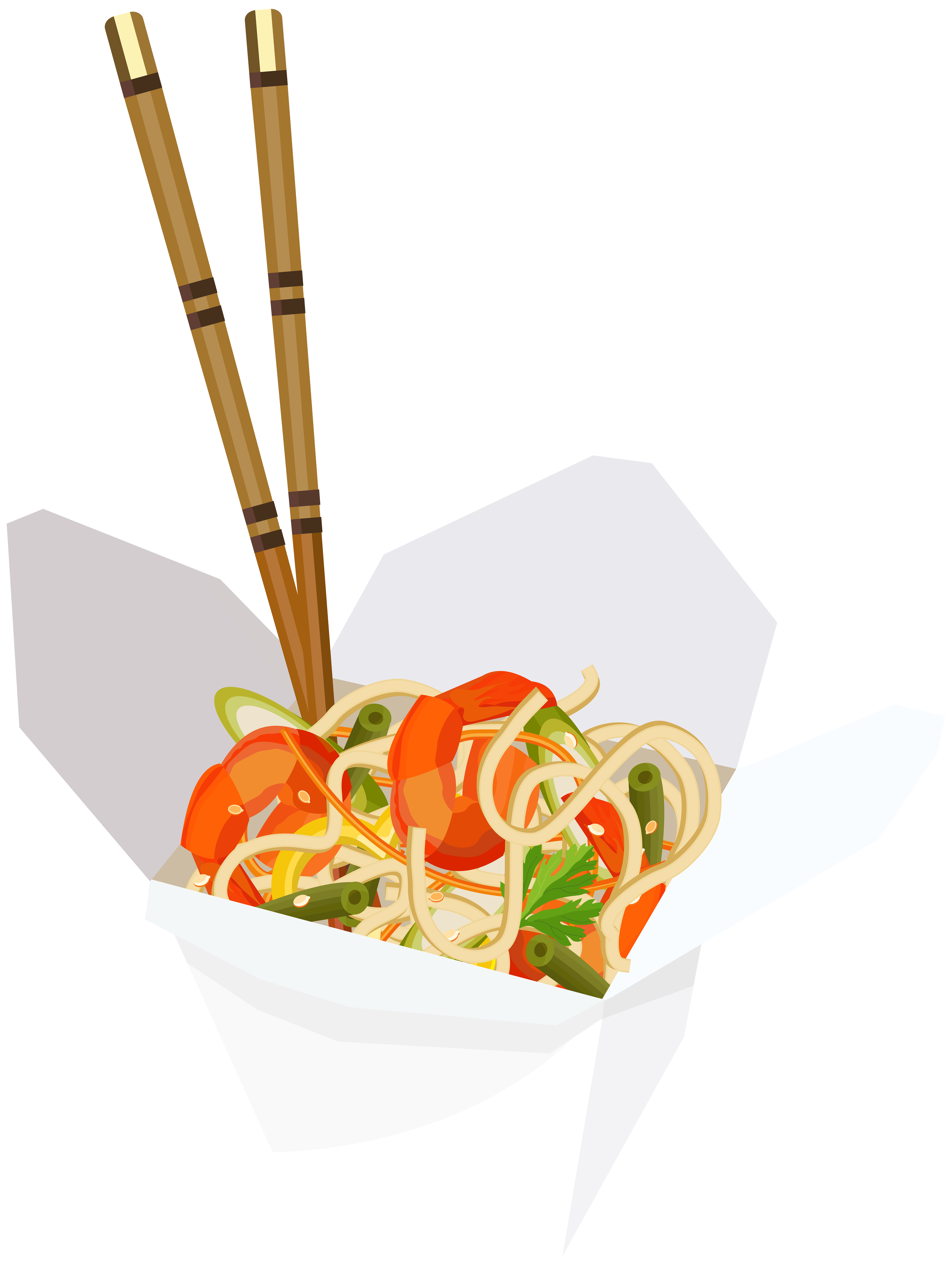 Chinese Fast Food Transparent PNG Clip Art Image.