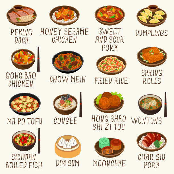 Best Chinese Food Illustrations, Royalty.